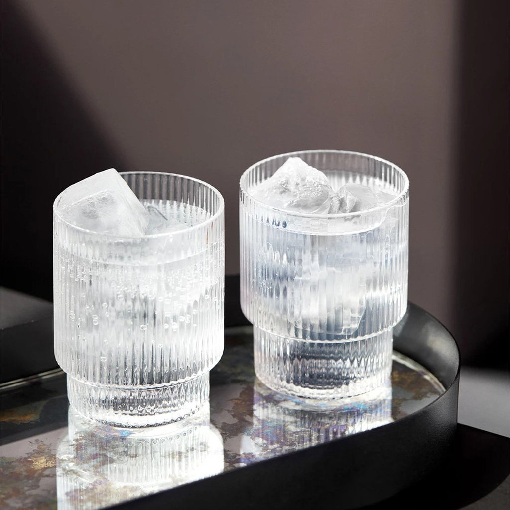 Ferm Living Ripple Small Glasses in Clear