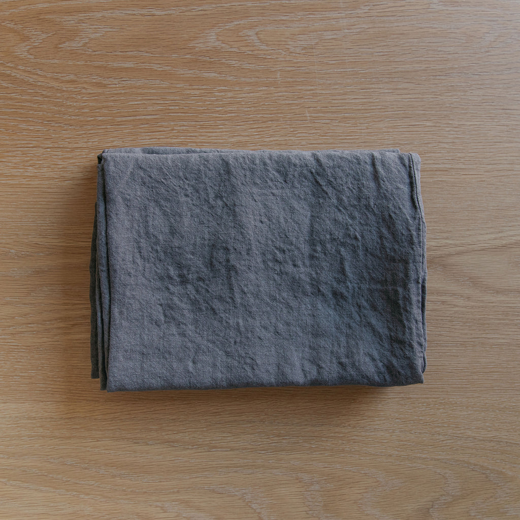 Somn Linen Bedding Charcoal Grey