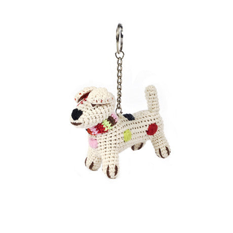 Anne-Claire Petit Handmade Terrier Keyholder in Nature