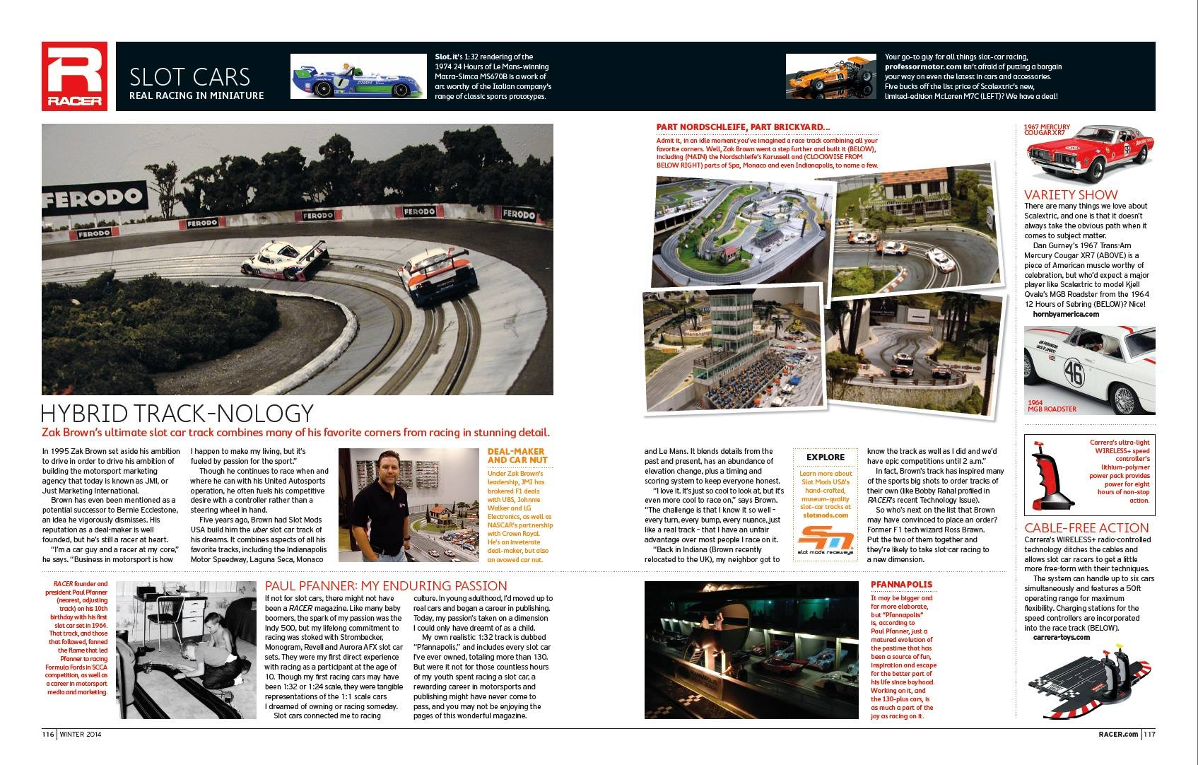 Slot Mods in Winter issue of Racer Magazine | Slot Mods Raceways