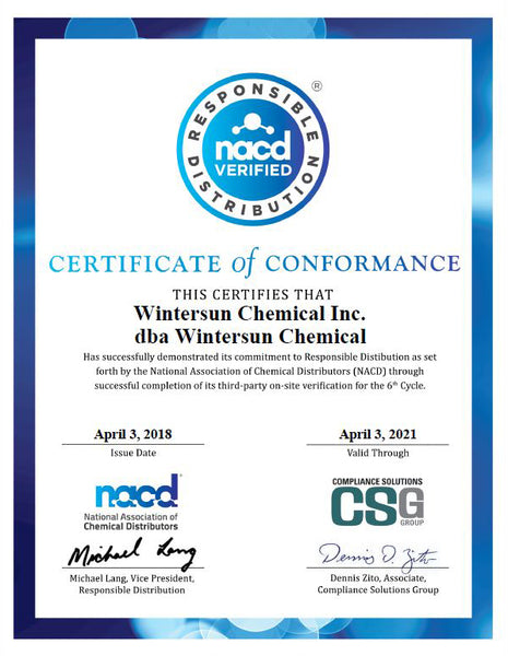 NACD Certificate of Conformance 2018