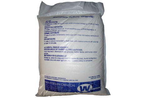 Aluminum Sulfate Granular [CAS_10043-01-3 ] [Al2(SO4)3] 99+% White 55.12 Lb Bag
