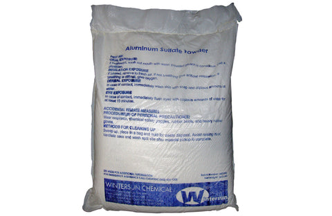 Aluminum Sulfate Powder [10043-01-3 ] [CAS_Al2(SO4)3] 99+% White 55.12 Lb Bag