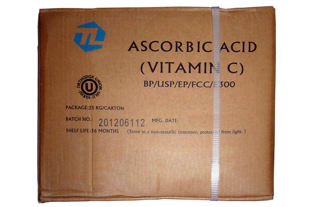Ascorbic Acid [C6H8O6] [CAS_50-81-7] Food Grade (BP/USP/EP/FCC/E300) 99+% White Powder (55.12 Lbs Carton)