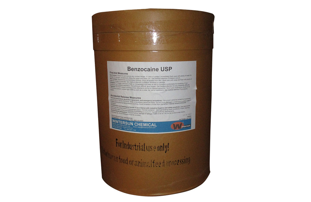 Benzocaine [C9H11NO2] [CAS_94-09-7] 98+% USP Grade, White Powder (55.12 Lb Drum)