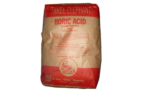 Boric Acid Granular [H3BO3] [CAS_10043-35-3] Technical Grade 99.6+%, White Solid (55.12 Lbs Bag)