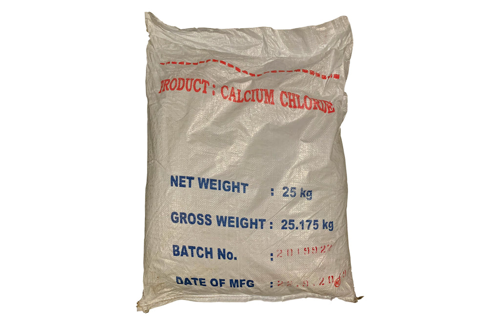 Calcium Chloride Prilled [CaCl2] [CAS_10043-52-4] +94% Food Grade, White (55.12 LB Bag)
