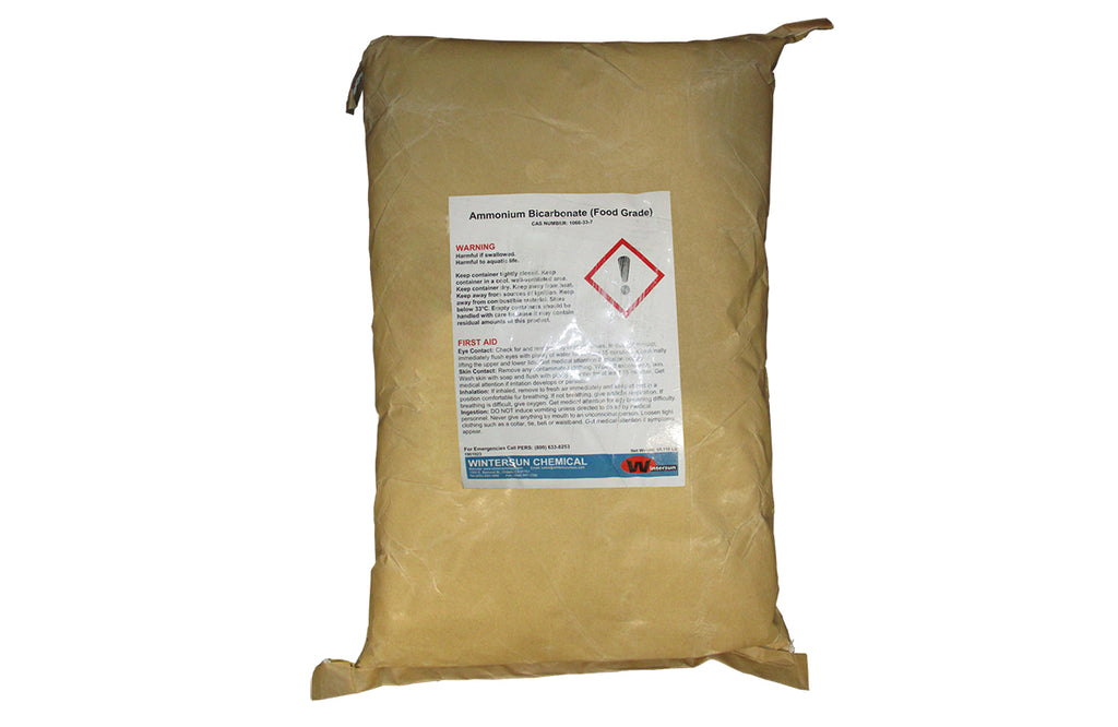 Ammonium Bicarbonate [NH4HCO3] [CAS_1066-33-7] Food Grade White Cystals (55.12 LB Bag)