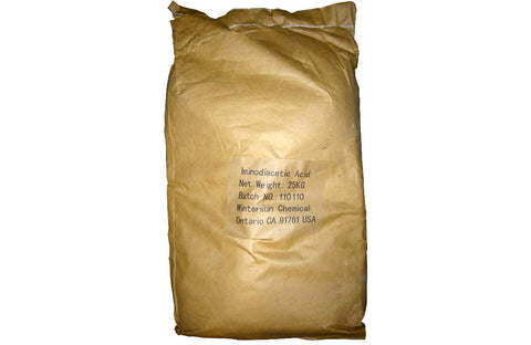 Iminodiacetic Acid [HN(CH2COOH)2] [CAS_142-73-4] Yellow Crystalline Powder (55.12 Lb Bag)