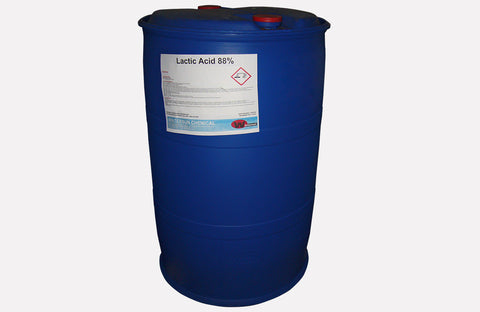 Lactic Acid 88% [CH3CH (OH)CO2H] [CAS_79-33-4] Food Grade, Hygroscopic Liquid (551.15 Lb Drum)