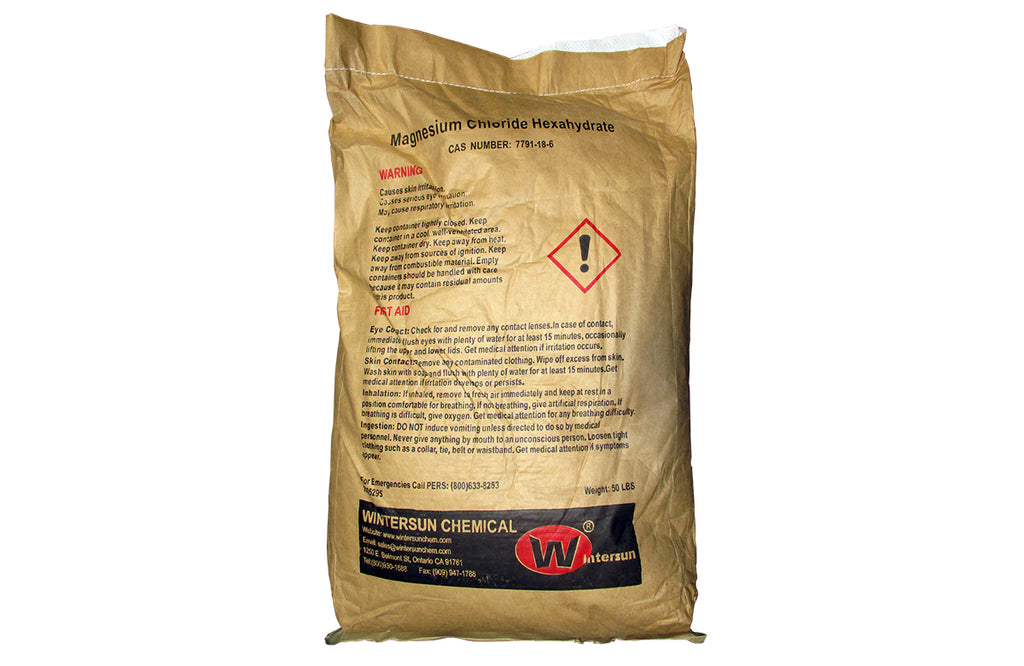 Magnesium Chloride Hexahydrate [MgCl2.6H2O] [CAS_7791-18-6] Industrial Grade, 98+%, White Flake (50 Lb Bag)