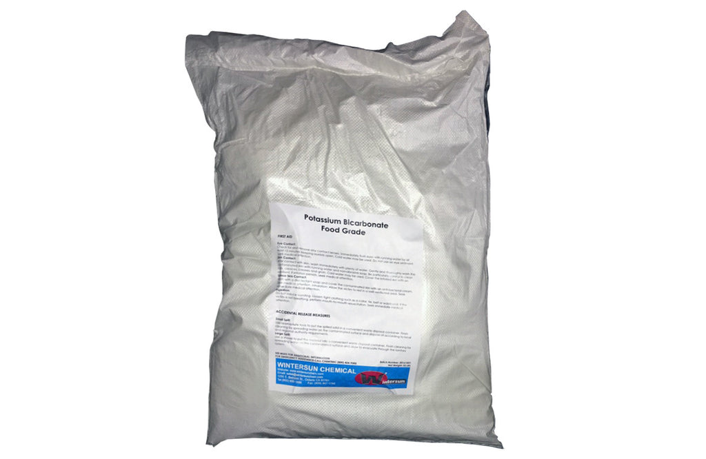 Potassium Bicarbonate Powder [KHCO3] [CAS_298-14-6] Food Grade 99+%, White (50 Lb Bag)