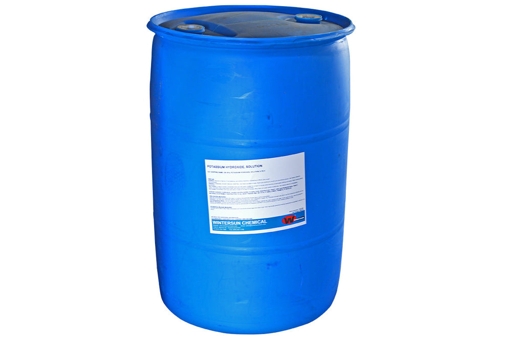 Potassium Hydroxide (Caustic Potash) 50% [KOH] [CAS_1310-58-3] Clear Colorless Liquid (650 Lb Drum)