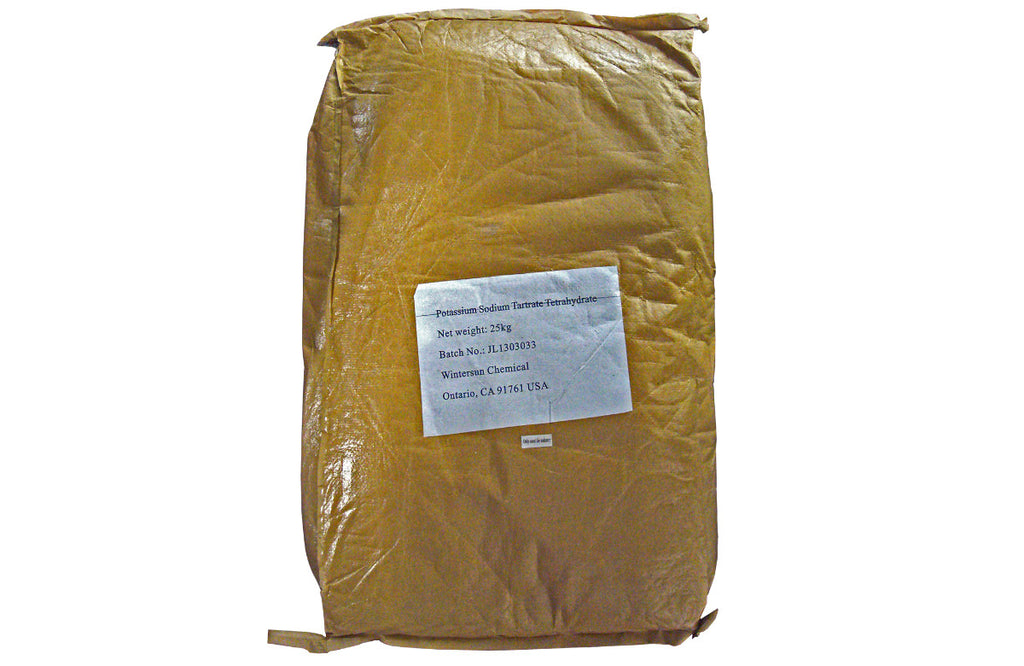 Potassium Sodium Tartrate (Rochelle Salt Crystal) [CAS_6381-59-5] FCC Grade (55.12 LB Bag)