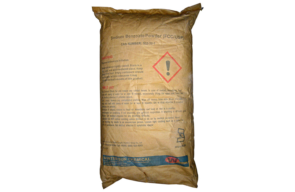 Sodium Benzoate [NaC7H5O2] [CAS_532-32-1] 99+% FCC/USP Grade, White Crystaline Powder (50 Lb Bag)