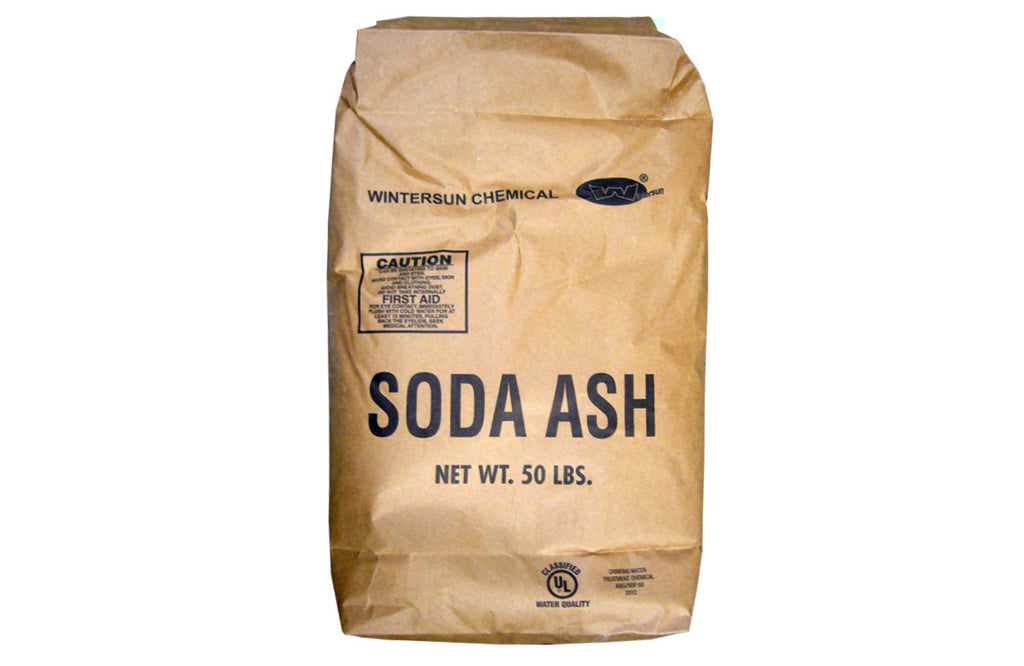 Sodium Carbonate Dense Soda Ash [Na2CO3] [CAS_497-19-8] NSF 99.6+%, White Crystals (50 Lb Bag)