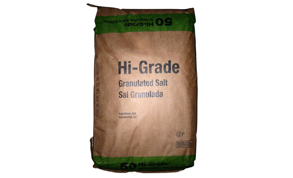 Sodium Chloride Hi Grade Granulated Salt [NaCl] [CAS_7647-14-5] White crystalline solid (50 Lbs Bag)