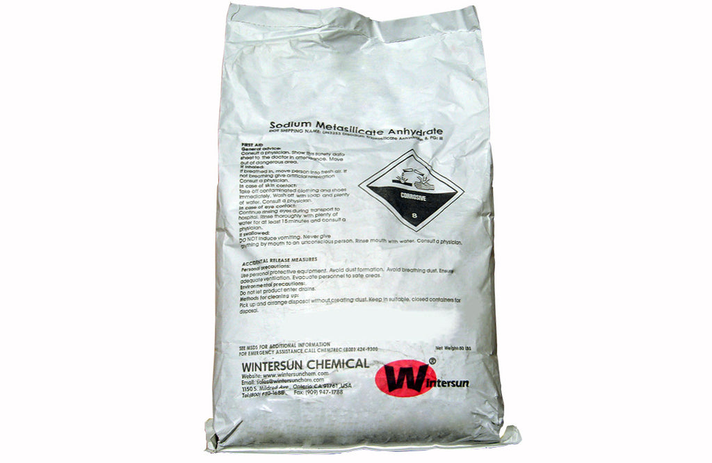 Sodium Metasilicate Anhydrate [Na2SiO3] [CAS_6834-92-0] Solid (50 Lb Bag)