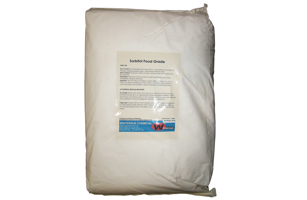 Sorbitol [C6H14O6] [CAS_50-70-4] Food Grade 91+%, White Crystalline Powder/  Flakes / Particles (55.12 Lbs Bag)