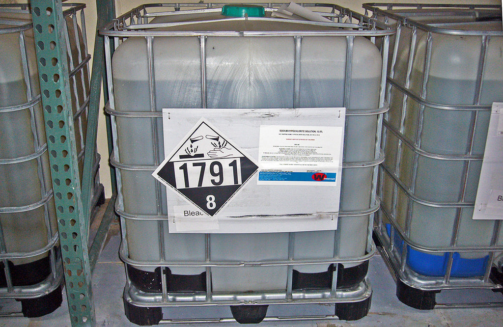 Sodium Hypochlorite Solution (Bleach) [NaOCI] [CAS_7681-52-9] 12.5% Liquid (2750 Lb/ 275 Gallon Tote)