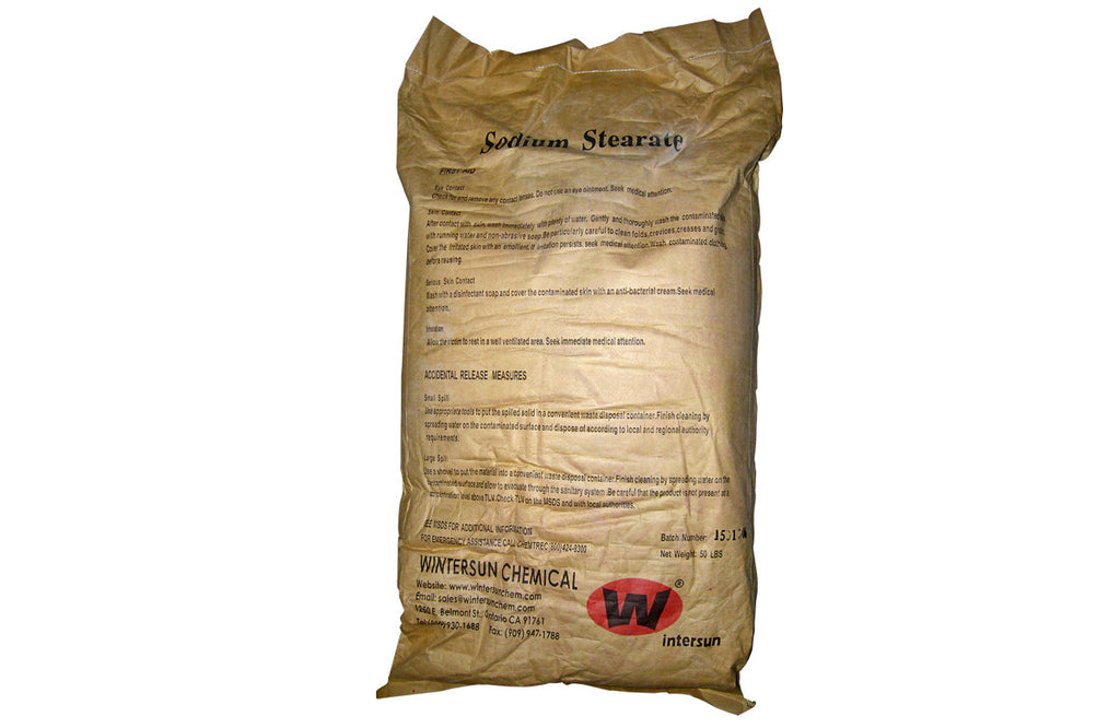 Sodium Stearate Powder [C17H35COONa] [CAS_822-16-2] White (50 Lb Bag)