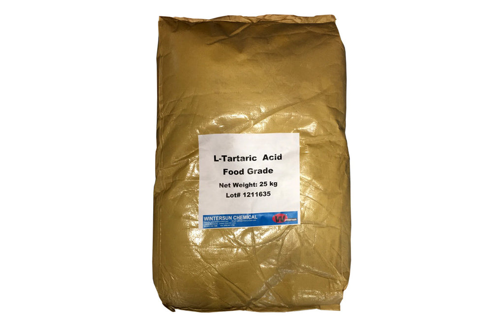 Tartaric Acid Food/USP Grade [C4H6O6] [CAS_87-69-4] White Crystal Powder (55.12 Lb Bag)
