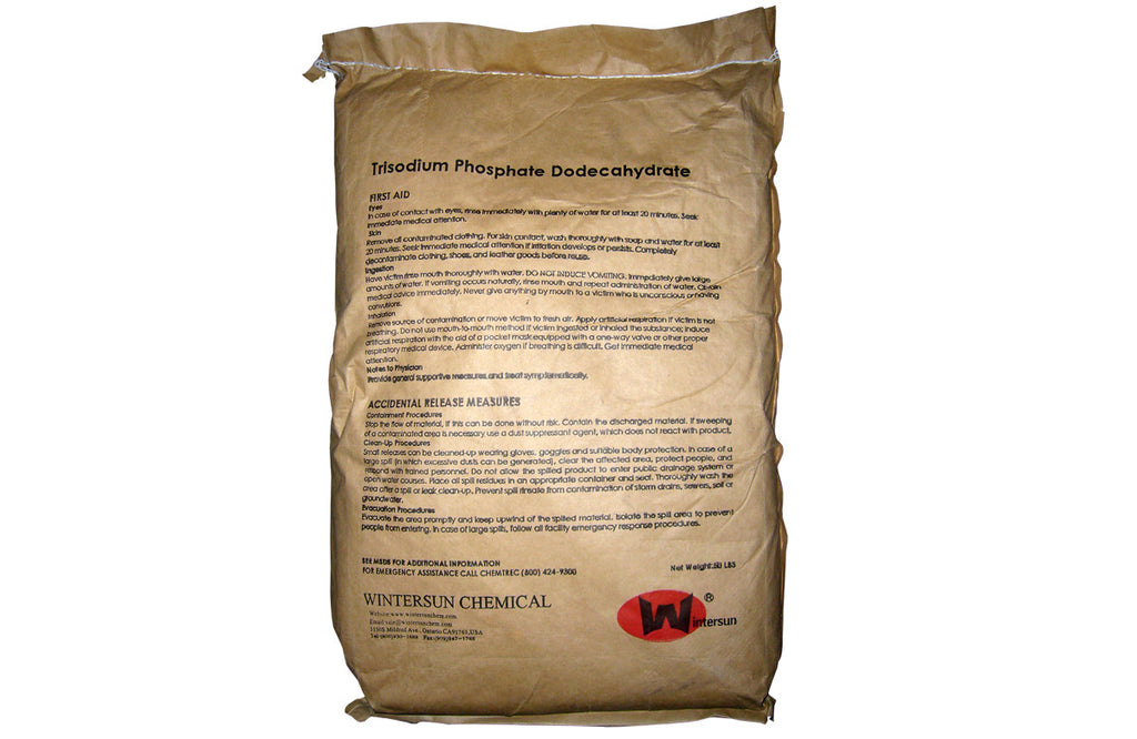 Trisodium Phosphate Dodecahydrate 98+% [Na3PO4.12H2O] [CAS_10101-89-0] Technical Grade, Crystalline Solid (50 Lb Bag)