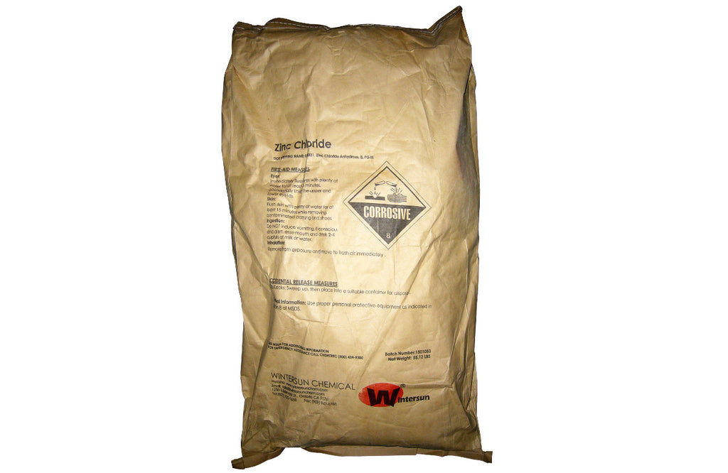 Zinc Chloride Powder [ZnCl2] [CAS_7646-85-7] 98% White (55.12 Lbs Bag)
