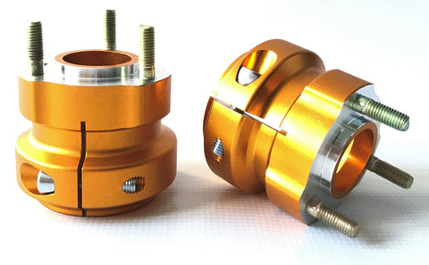Gold 50mm x 62mm Short Rear Hubs