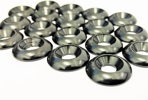 Set of 6 Black M8 Countersunk Washers