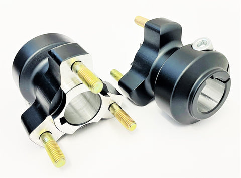 Set of Black 25mm x 62mm Cadet Rear Hubs