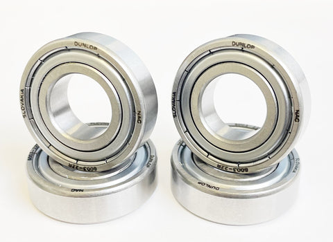 Set of 4 Dunlop 6003Z 17mm Wheel / Hub Bearings