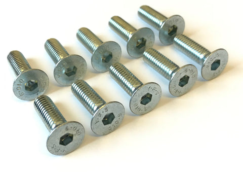 Set of 10 Countersunk M6 20mm Floor Tray Bolts