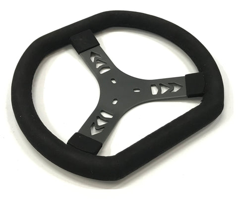 Flat Top & Bottom Suede Steering Wheel
