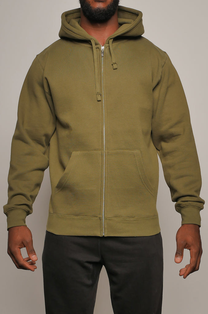 CMHZ-003 Men's Double Weight Full Zip Hoodie