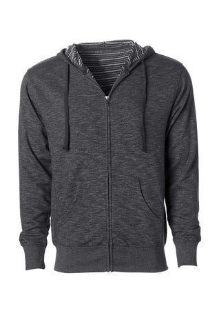 CMHZ-005 Men's Midweight Baja Stripe French Terry Zip Hoodie
