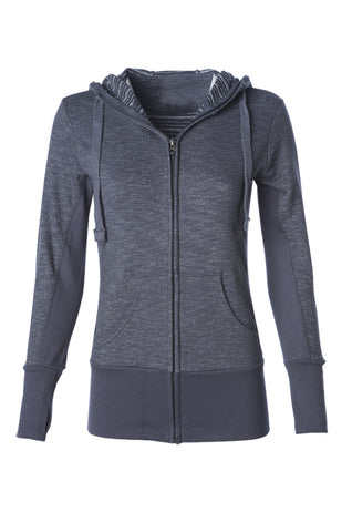 CWHZ-005 Women's Midweight Baja Stripe French Terry Zip Hoodie