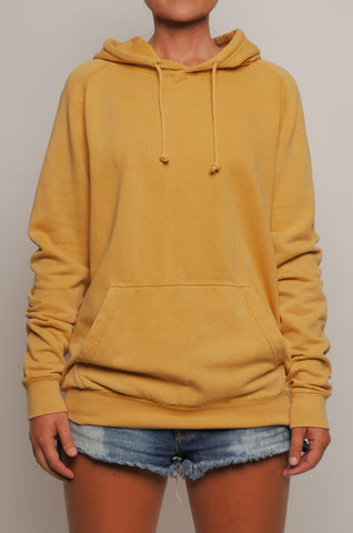 CMF-001 Unisex Pigment Dyed Raglan Pullover Hoodie