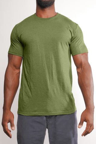 CMT-002 Men's Blended 50/50 Heather Tee