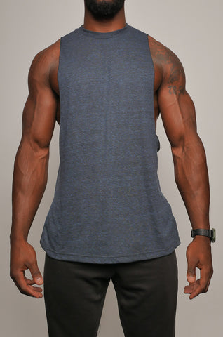 I8T-009 Men's Muscle Cut Tee with Side Split