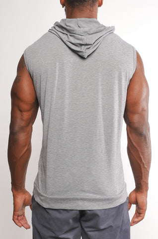 I8T-007 Men's Sleeveless Triblend Pullover Hoodie