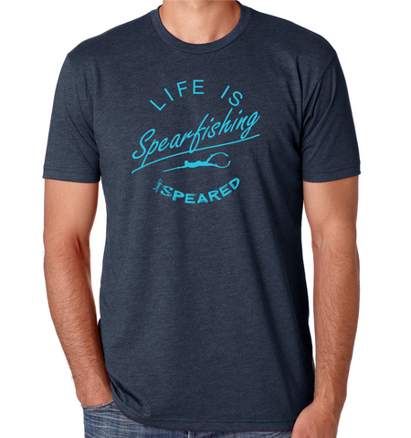 Life is Spearfishing Shirt - Navy