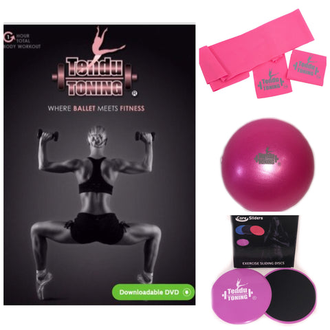 "Tendu Toning® # 1 ""where ballet meets fitness"" direct download Combo Kit"