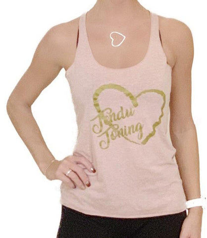 Pink Tendu Toning heart shirt