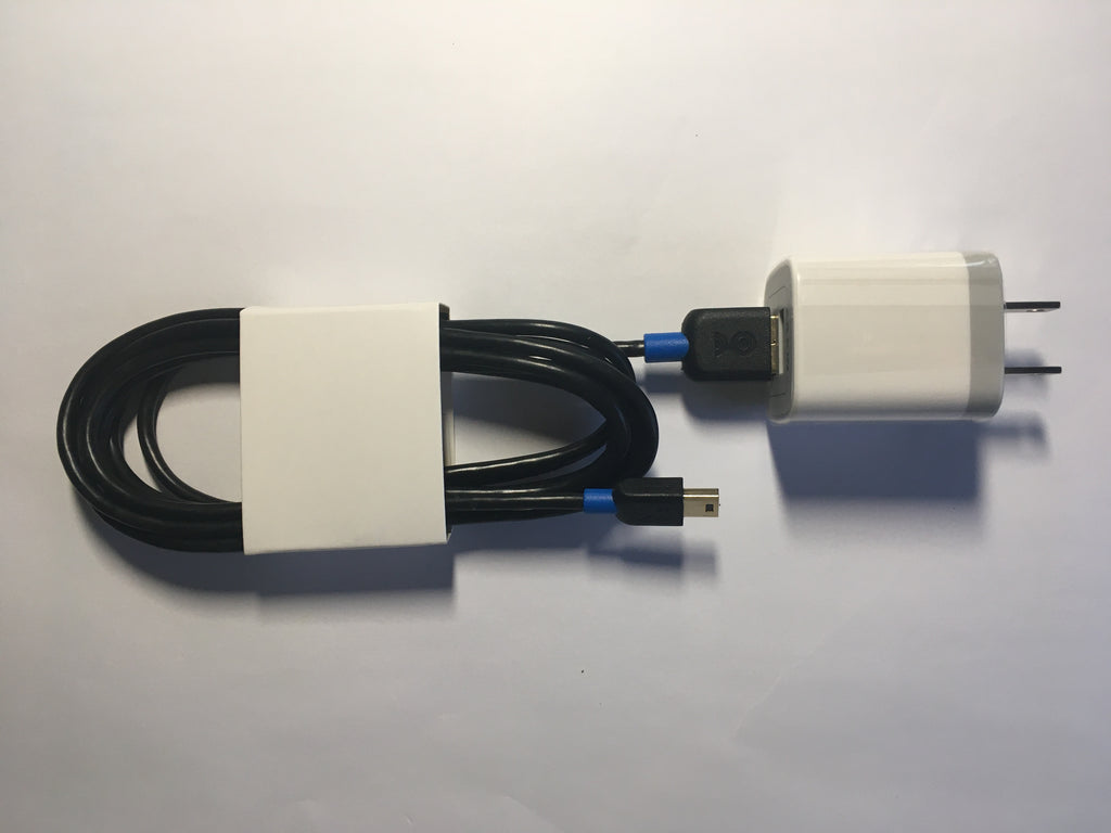 USB Mini-b Cable with USB Wall Adapter for M1 model