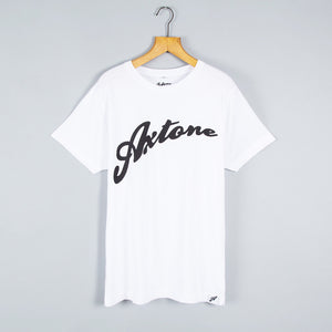 """Axtone"" White and Black Tee"