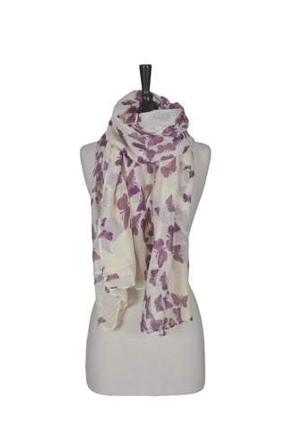 The Butterfly Scarf - Beige and Pink