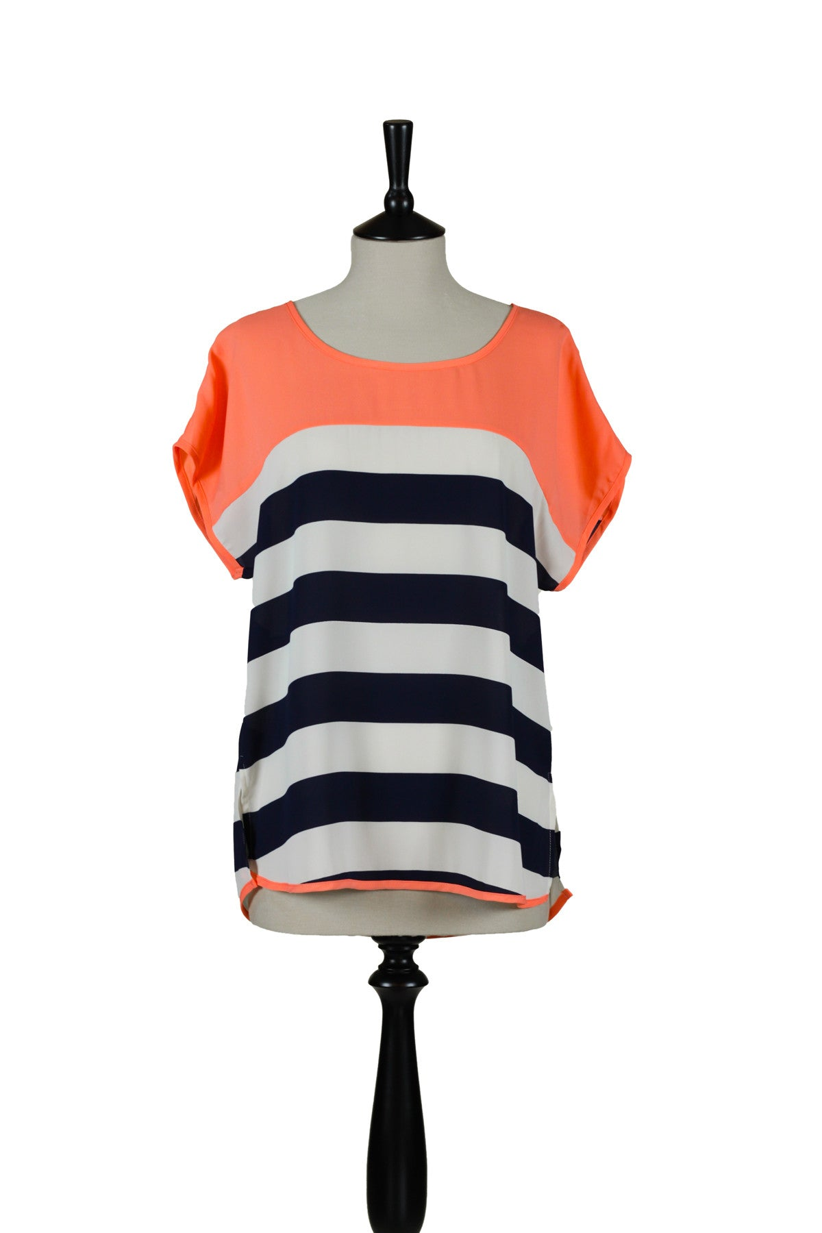 Charlotte Striped Top - Coral