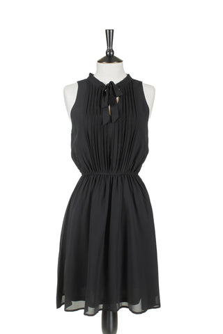 Clémentine Front Tie Dress - Black