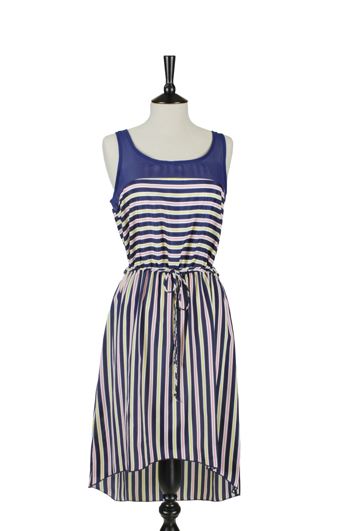 Élisa Striped Sleeveless Dress